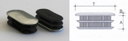 Copritesta ovali alettati con lamierino cromo
