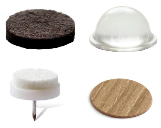 Adhesive furniture fittings